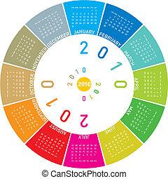 Colorful Calendar for 2010. - Colorful Calendar for year...