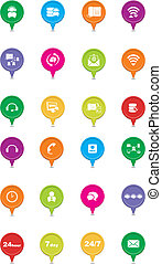 colorful call center pointers - suitable for user interface