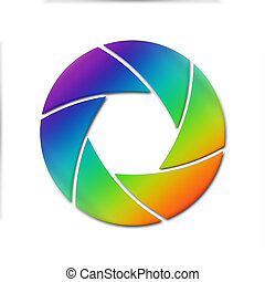 colorful camera lens aperture ring