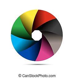 colorful camera shutter