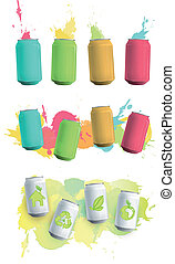 Colorful can drop background.
