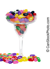 colorful candy beans margarita glas