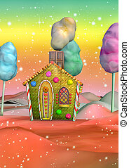 Colorful candy house