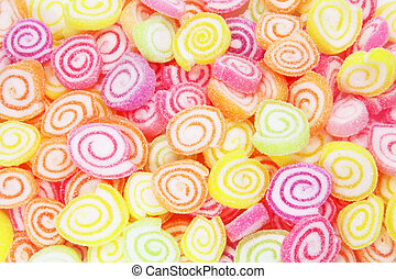 Colorful Candy in a Large Pile as a Abstract