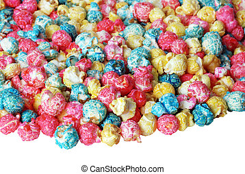 Colorful Candy popcorn isolated