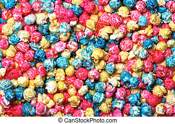 Colorful candy popcorn