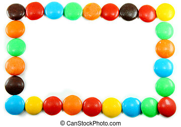 Colorful candy template frame