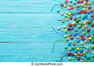 Colorful candy,place for inscription
