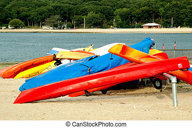 Colorful Canoes