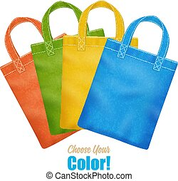 Colorful Canvas Tote Bags Collection Advertisement - Modern...