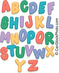 Colorful Capital Letter Set