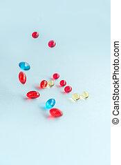 Colorful capsules