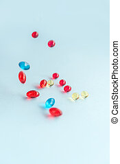 Colorful capsules