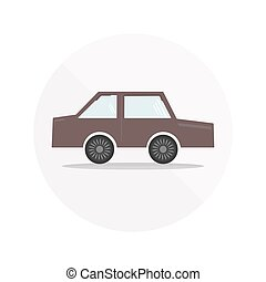 Colorful car icon - Colorful dark cherry car icon with...