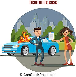 Colorful Car Insurance Template