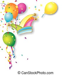 colorful carnival or birthday background with ballons