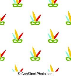 Colorful carnival mask pattern seamless