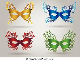 Colorful Carnival Mask Set
