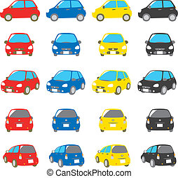 colorful cars set, vector file