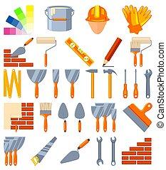 Colorful cartoon 30 construction elements set