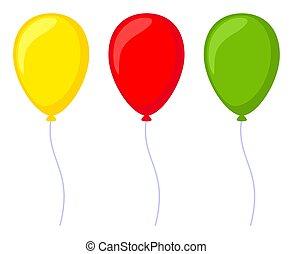 Colorful cartoon baloon set