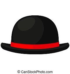 Colorful cartoon bowler hat