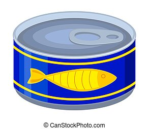 Colorful cartoon canned fish