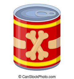 Colorful cartoon canned pet food