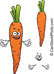 Colorful cartoon carrot vegetable character