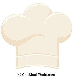 Colorful cartoon chef hat