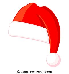Colorful cartoon christmas hat