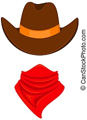 Colorful cartoon cowboy avatar
