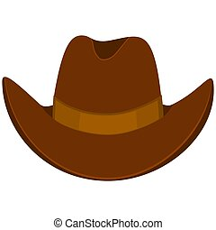 Colorful cartoon cowboy hat