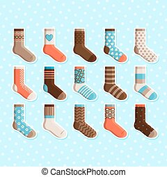 Colorful cartoon cute kids socks stickers - Colorful cartoon...