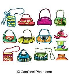 Colorful Cartoon Fashion Woman Bags.