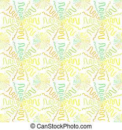 Colorful cartoon firewoks pattern on white background