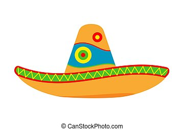 Colorful cartoon mexican hat.