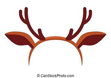 Colorful cartoon reindeer antler hat