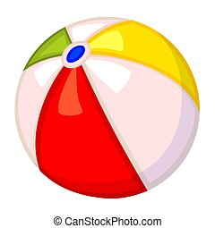 Colorful cartoon rubber ball