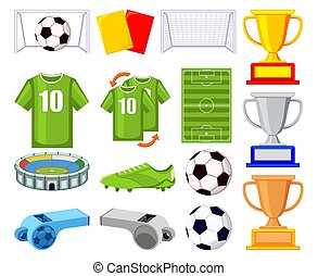 Colorful cartoon soccer 150elements set