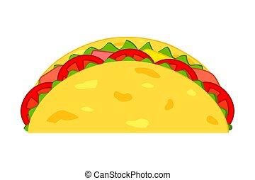 Colorful cartoon taco