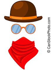 Colorful cartoon western avatar