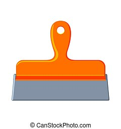 Colorful cartoon whide spatula