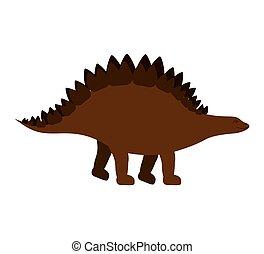 colorful cartoon with dinosaur stegosaurus