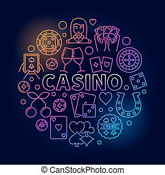 Colorful casino round illustration