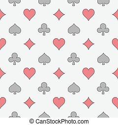 Colorful casino seamless pattern