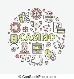 Colorful casino vector illustration