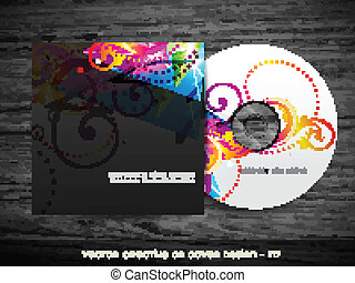 colorful cd cover design - stylish colorful cd cover design