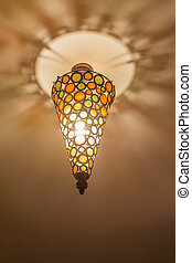 Colorful ceiling lamp