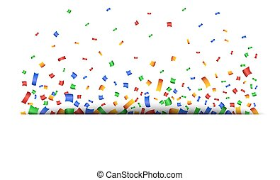 Colorful celebration background with confetti.